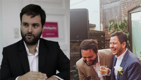 El exparlamentario del Partido Morado se casó con su pareja Diego Carranza. (Foto: GEC / @mjosorio)