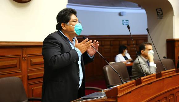 El congresista Rennán Espinoza cuestionó que se haya negado el voto de confianza a Pedro Cateriano. (Foto: Congreso)