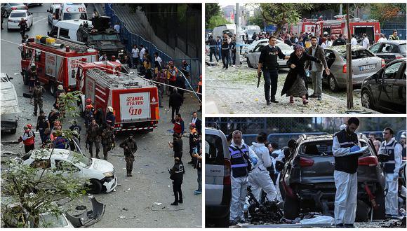 Turquía: Al menos 10 heridos tras fuerte explosión cerca a comisaría en Estambul
