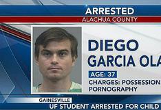 Estudiante piurano de doctorado es arrestado por posesión de pornografía infantil en Florida
