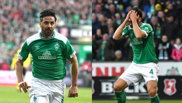 El preocupante sobrepeso de Claudio Pizarro en los entrenamientos del Werder Bremen (FOTO)