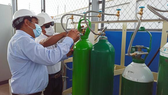 Esta planta también abastecerá a otros centros de salud y a la planta generadora de oxígeno ubicada en el Estadio Centenario, la cual solo produce 24 balones al día y tiene en espera 300 balones (Foto: Gore Áncash)