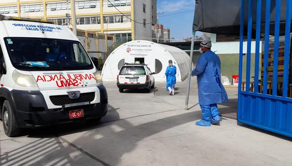 A emergencia del Unanue llegan personas que solo habían recibido la primera dosis. (Foto: Difusión)
