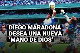 Diego Maradona desea una nueva 'Mano de Dios', a poco de su cumpleaños