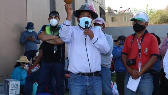 Prescilio Mamani participó en protestas anteriores en el Gobierno Regional de Moquegua. (Foto: Difusión)