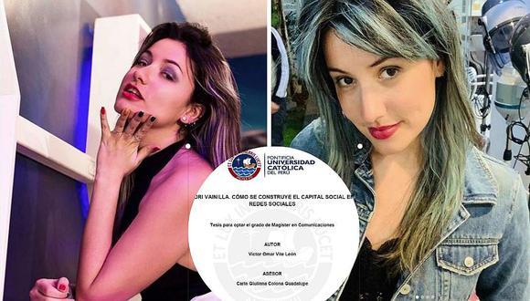 Tesis para obtener el grado de magíster analizó los 'selfies' de Instagram de Adri Vainilla