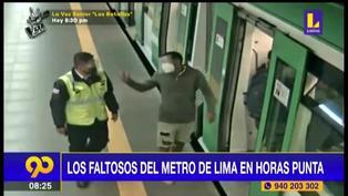 Metro de Lima: Pasajeros agreden a supervisores por uso de doble mascarilla y protector facial (VIDEO)