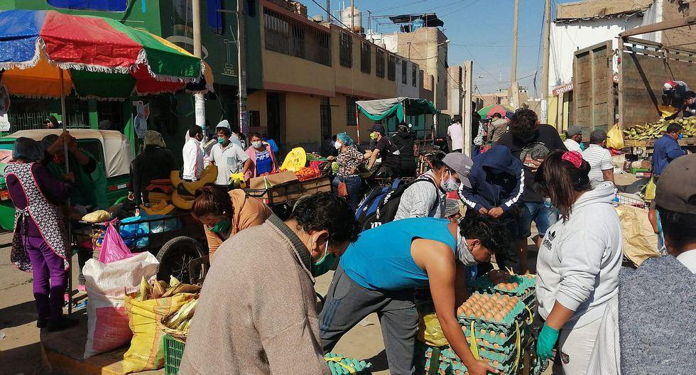 Ica: Comerciantes toman diversas calles para  vender sus productos