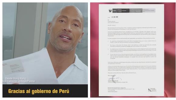 Dwayne Johnson 'La Roca' emocionado tras recibir invitación oficial para conocer el Perú (VIDEO)