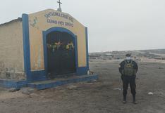 Policía vigila la capilla del cerro Intiorko para evitar concurrencia de personas