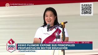 Keiko Fujimori expuso sus propuestas en educación en el debate realizado en Chota