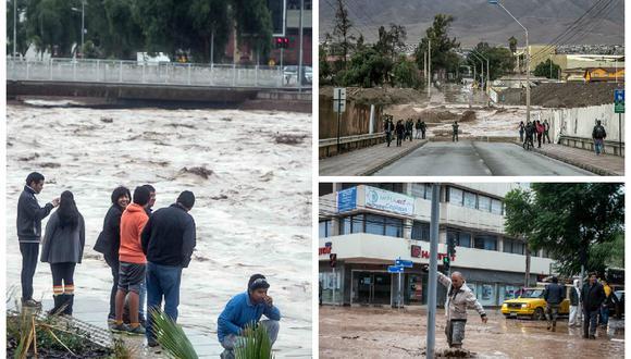 Cuatro muertos y 22 desaparecidos por inusual temporal en norte de Chile