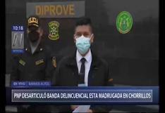 Intervienen a banda criminal que participaba una fiesta COVID-19 en Chorrillos