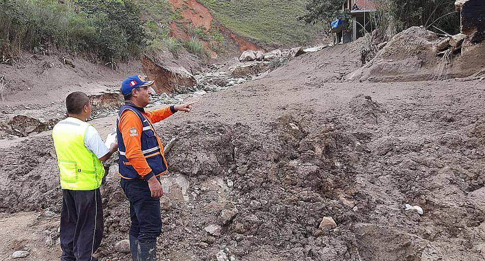 Ocho distritos de Huánuco en Estado de Emergencia por lluvias