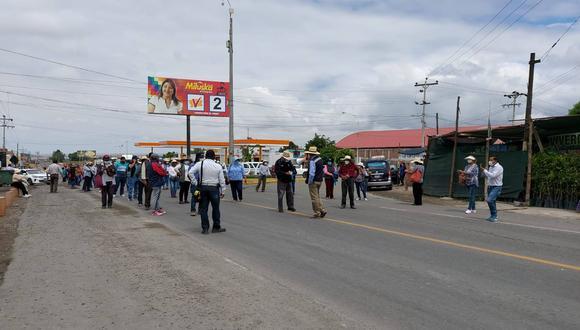 Arequipa: Reportan que agricultores de La Joya bloquearon Panamericana Sur (Foto: Facebook   HBA Noticias)