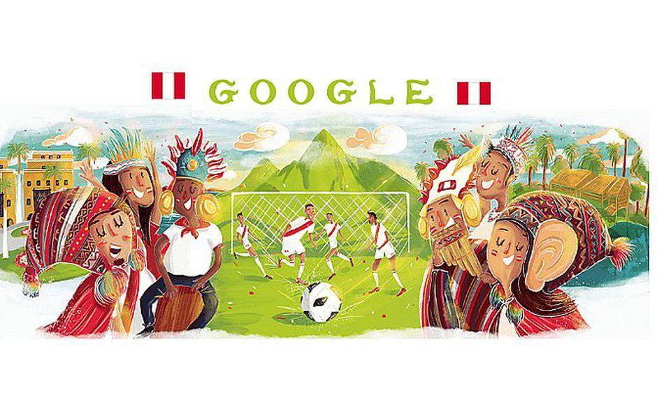 Google celebra el debut de Perú en Rusia 2018 con un especial doodle