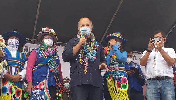 Hernando de Soto hizo mitin en la ciudad de Juliaca.