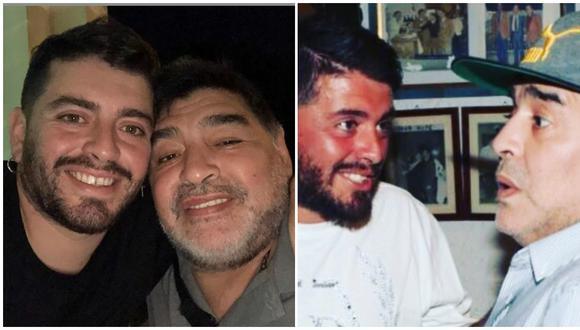 La conmovedora despedida de Diego Maradona Junior a su papá. (Fotos: Instagram)
