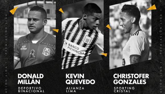 La Liga 1 nominó a los tres futbolistas para elegir al Mejor Jugador del Año. (Foto: Liga 1)