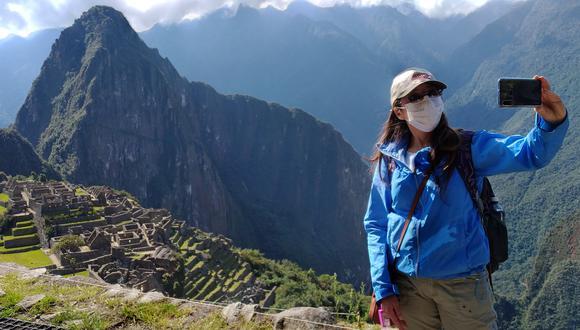 Machu Picchu recibe en promedio 700 visitantes por la coyuntura de la pandemia. (Foto: AFP)