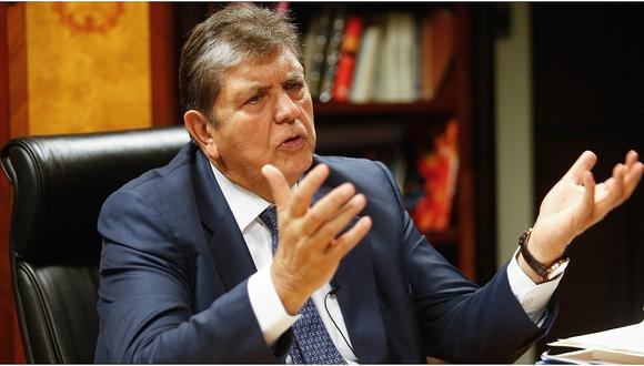 """Alan García: """"Lo que desespera a otros adversarios es que otros se venden. Yo no"""""""