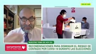 Doctor Elmer Huerta: recomendaciones para disminuir el riesgo de contagio al sufragar