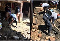 Policías reparan techo  y apoyan a abuelitos en extrema pobreza