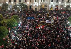 Simpatizantes de Perú Libre marcharon por el centro de Lima en apoyo a Pedro Castillo (FOTOS)