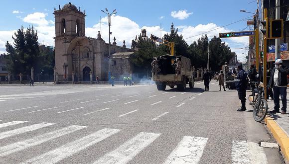 Desde hoy refuerzan control en las ciudades de Juliaca y Puno