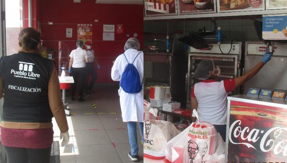 Municipalidad de Pueblo Libre clausuró KFC por condiciones insalubres. (Foto: Difusión)