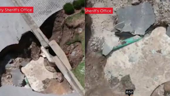 Cuatro enormes agujeros alarman a ciudadanos de Florida