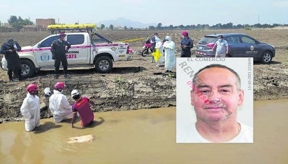 Moradores del sector Los Ceibos del distrito de Pomalca, fueron quienes lo hallaron flotando en el agua turbia.
