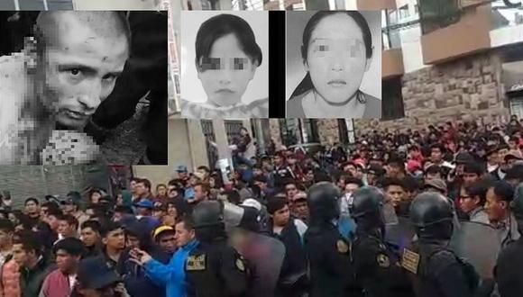 Vecinos de Andahuaylas exigen justicia por el asesinato y violación de dos niñas (VIDEO)