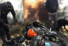Joven quedó grave tras sufrir accidente con su motocicleta