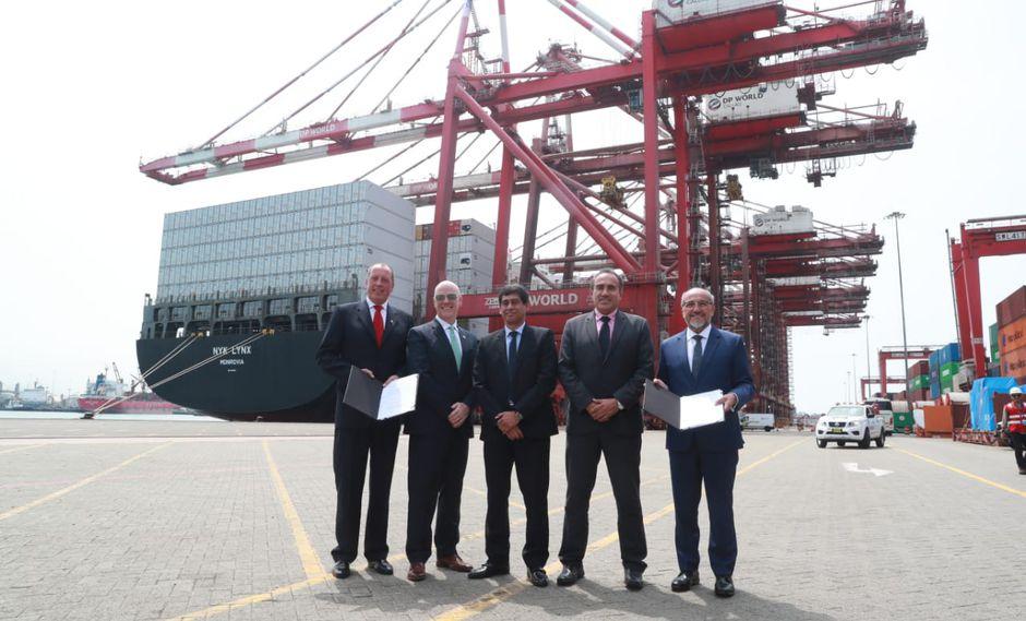 MTC y DPWorld Callao firmaron adenda para ampliar Muelle Sur