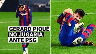 Gerard Piqué podría convertirse en la primera baja de Barcelona para enfrentar a PSG tras sufrir lesión