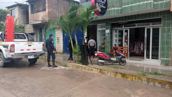 Agentes de la Policía Nacional en diligencias