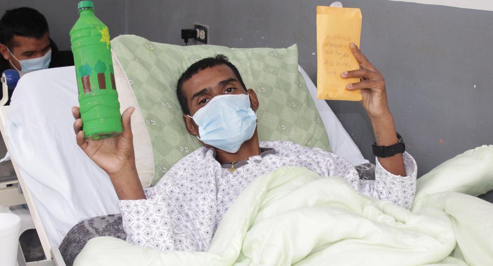 Chimbote: escolares envían mensajes de aliento a pacientes COVID-19 (Foto: hospital La Caleta)
