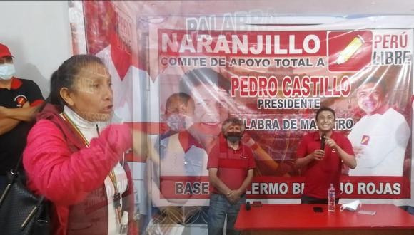 En medio de la inauguración de un nuevo local de Perú Libre en Huánuco, se desató un enfrentamiento entre los seguidores del partido que postula a la presidencia de la República a Pedro Castillo. (Foto: Correo)