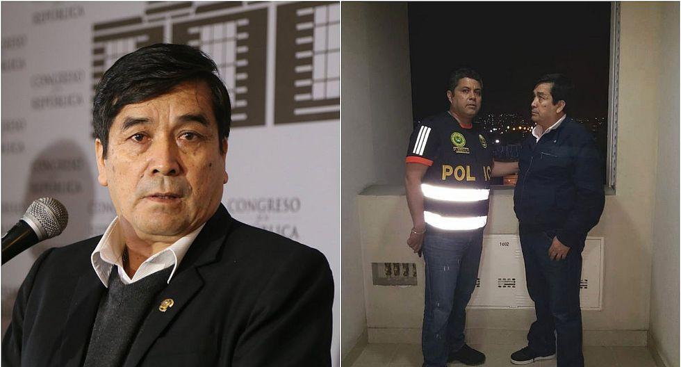 PNP captura al destituido congresista Benicio Ríos  (FOTOS)