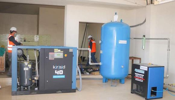 Ponen a prueba la primera planta de oxígeno en Juliaca