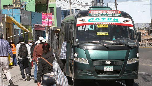 El servicio de transporte urbano continuará en Arequipa durante julio