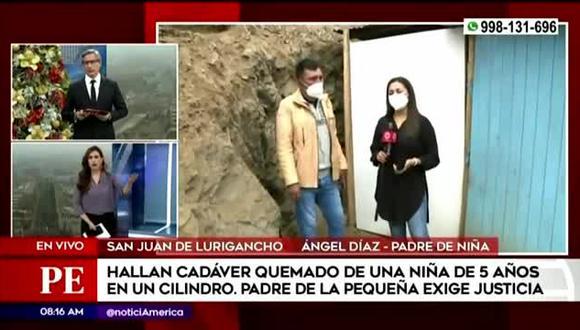 La periodista manifestó su molestia contra las autoridades que deben apoyar al padre de la niña de 5 años  cuyo cadáver fue encontrado calcinado en un cilindro.