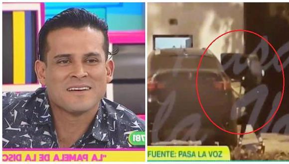 Christian Domínguez responde por nuevo video donde aparece con una mujer dentro de su auto (VIDEO)