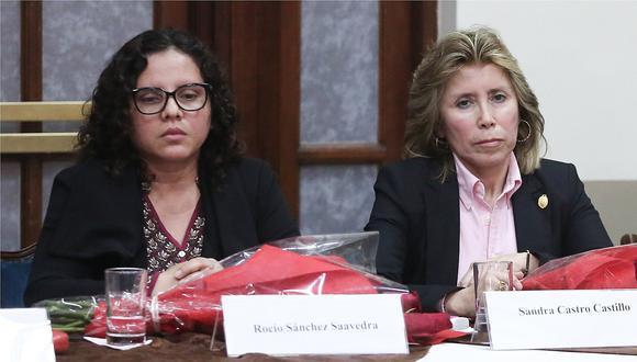 Abren procedimiento disciplinario inmediato contra las fiscales Rocío Sánchez Saavedra y Sandra Castro Castillo