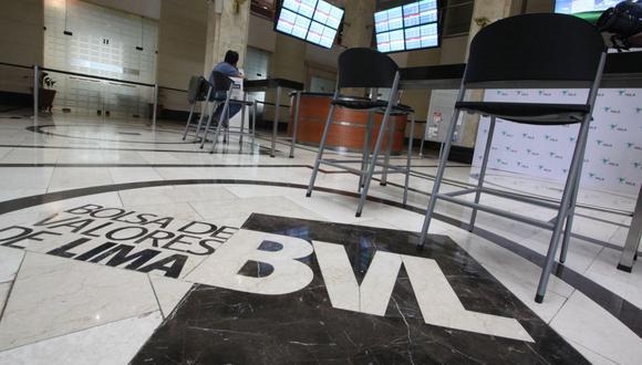 El indicador S&P/BVL Perú General, el más representativo de la bolsa, caía un -6.14%. (Foto: GEC)
