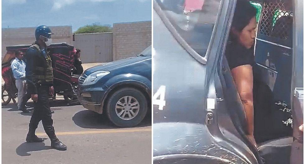 Tumbes: Policías auxilian a una madre gestante