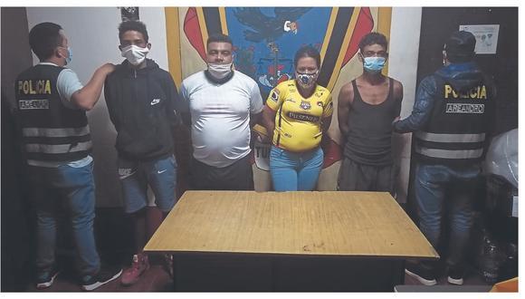 Tres venezolanos y un colombiano son detenidos en inmediaciones del embarcadero del Barrio 19 con marihuana y PBC.