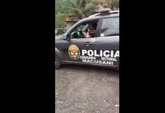 Carabaya: Policías libaban licor con menores de edad en local escolar