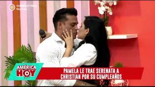 Pamela Franco sorprende con serenata a Christian Domínguez por su cumpleaños